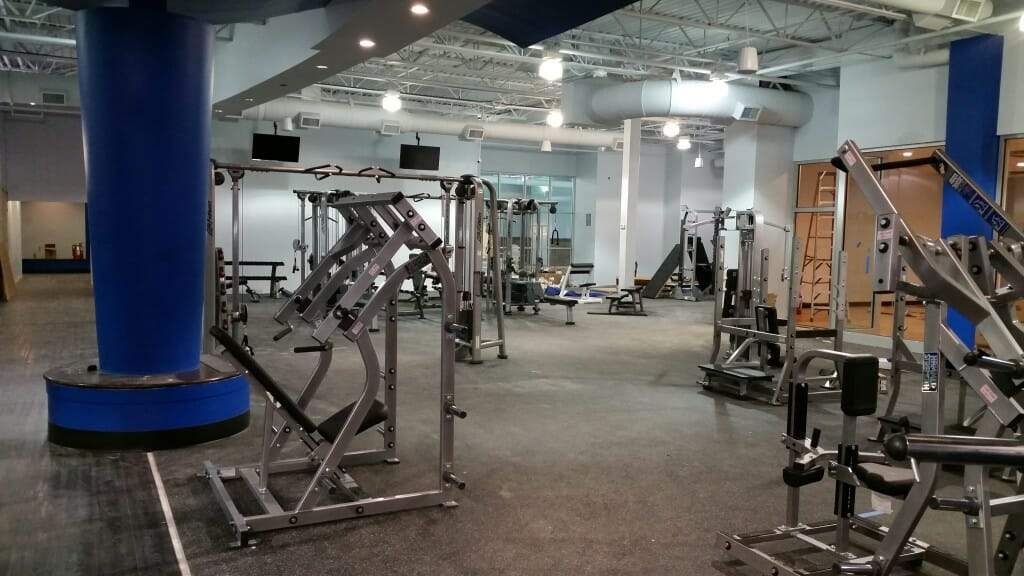 Workout area in the early stage of development