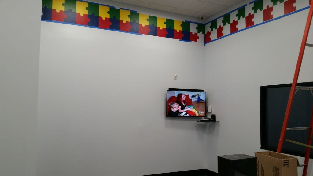 Another TV in the child care center