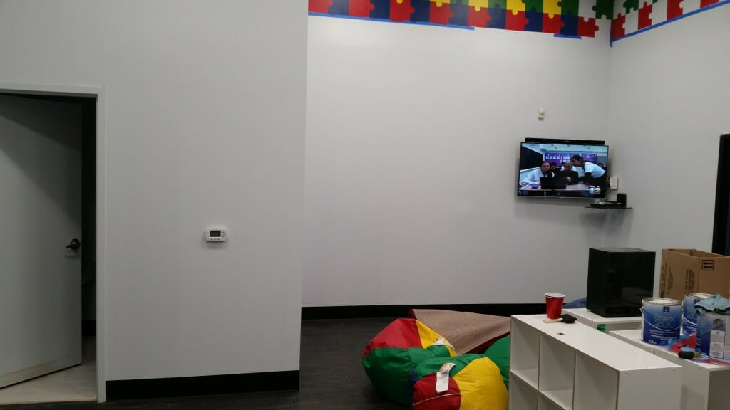 TV installed in the child care center