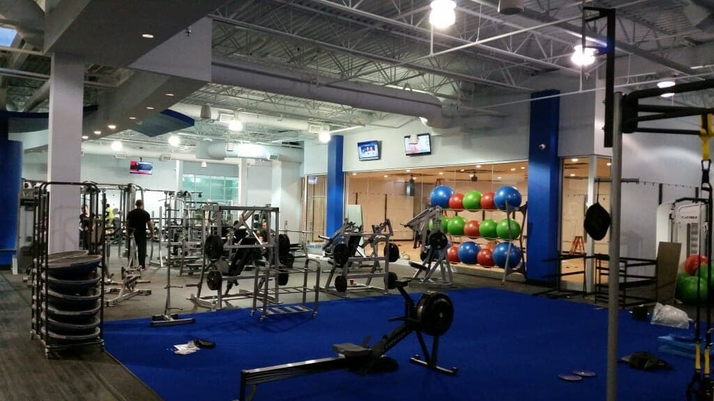 Main workout and weight training room